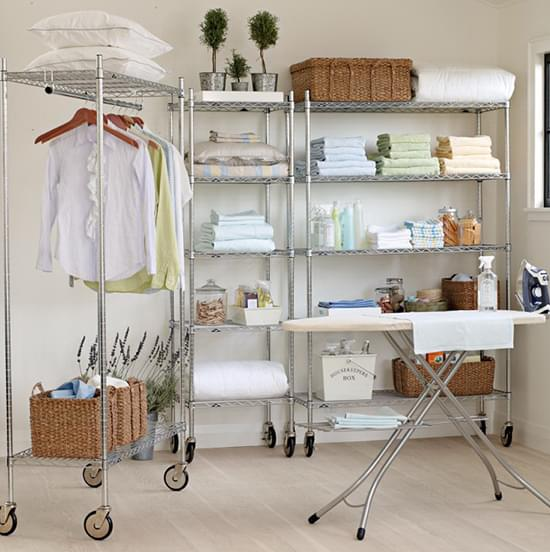 chrome laundry garment rack