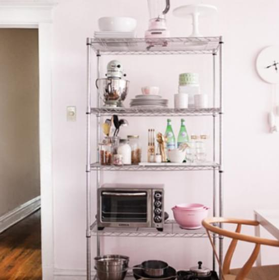 kitchen room wire shelf