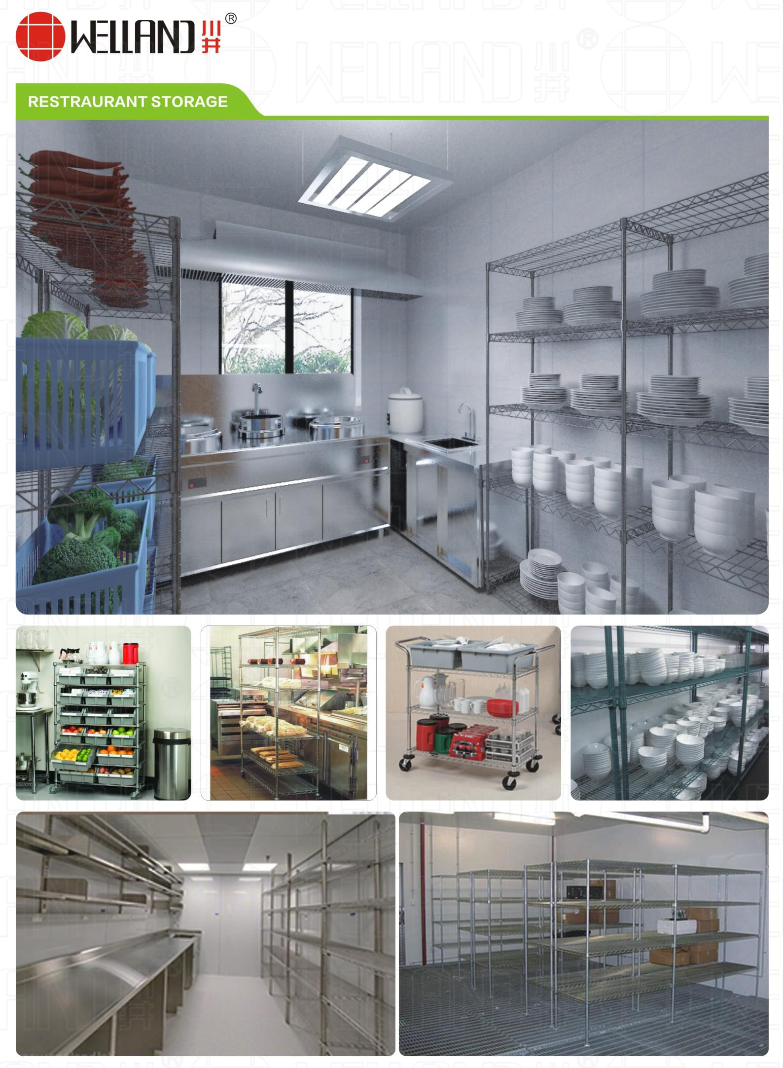 Changsheng Commercial Steel Kitchen Storage Shelf Series