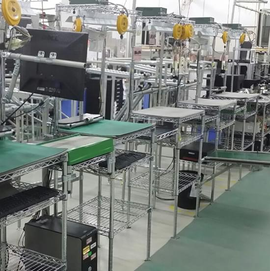 factory ESD SMT wire shelving