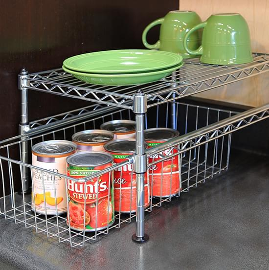 kitchen slide wire basket rack