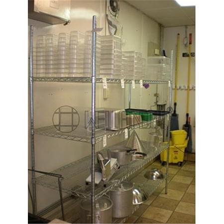 Restaurant Commercial Kitchen Storage DIY Chrome Metal Wire ...