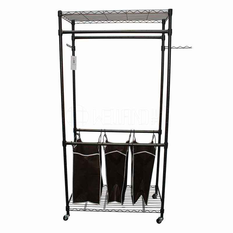 Commercial Grade Heavy Duty Clothes Rack Hanging Rolling