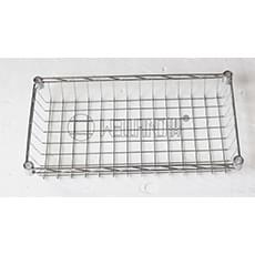 Chrome Wire Basket Shelf 450x250