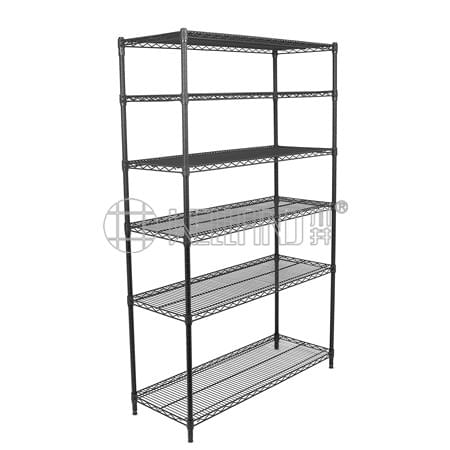 Hot Sale  6 Tier Commercial Office Storage Heavy Duty Wire Metal Shelf Shelving Rack,NSF Approval &