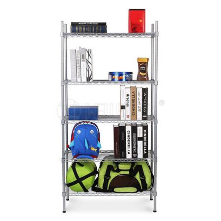 DIY 5 Tier Heavy Duty Epoxy Steel Shelf Home Storage Wire Rack Shelving,NSF Approval