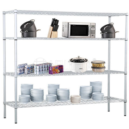 Commercial Restaurant Hotel Stoage 4 Tiers Kithcenware Plate Dish Rack in White,NSF Approval & No To
