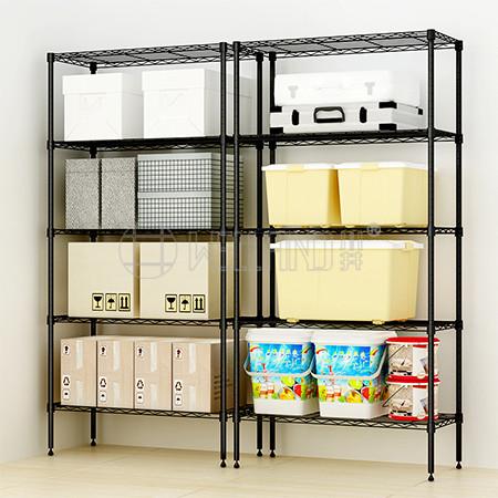 Household 900 x 450 x 1800 Black 6 Tier Adjustable Wire Metal Shelving Sundries Storage Rack,NSF App