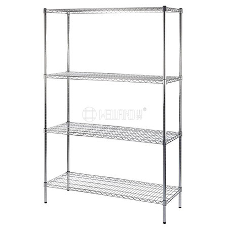 China Manufacturer 4 Tier Metal Shelf Rack Storage Commercial Wire Shelving with NSF Approval