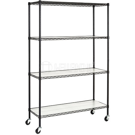 Commercial 4 Tiers 500 lbs Heavy Duty Steel Wire Shelves Shelving Storage Rack Organizer