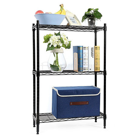 Height Adjustable Small Space Storage Metal Wire Shelf Wide Adjustable Rack Unit