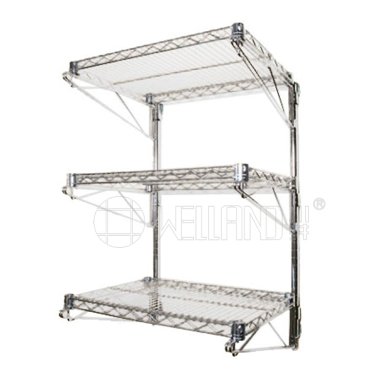 Space Saving Multipurpose Adjustable Wall Mounted Wire Shelving With 4 Shelves